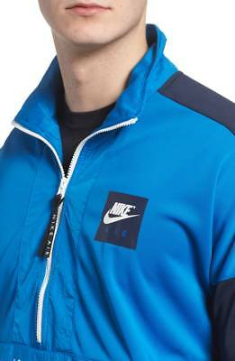 4b2b022f2f503 SZ 2XL Nike NSW Air Max Half Zip Top Anorak Men's Blue Nebula 918324-465