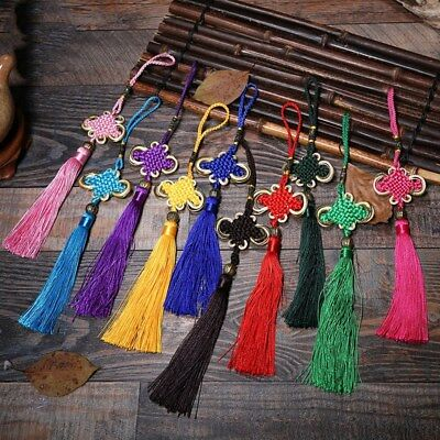 Purse Handbag Bag Cell Phone Charms Tassel Pendant Keyring Chinese Lucky Knot