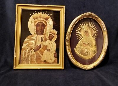 Vintage Polish Religious Catholic/Ortodox Icon Set of 2