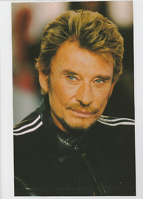 johnny  hallyday  photo de magazine  plastifiée