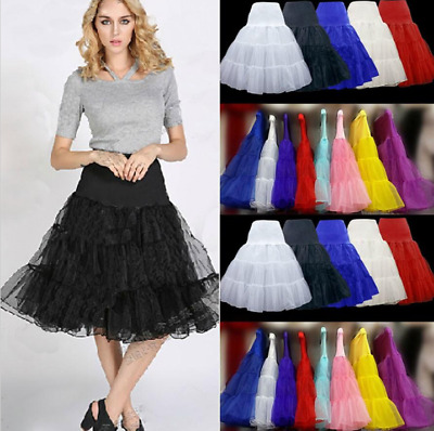 "Vintage Petticoat 26"" Retro Underskirt 50s Net Skirt Swing Fancy Rockabilly Tutu"