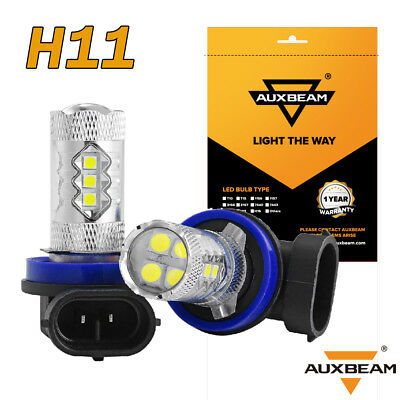AUXBEAM H11 H9 H8 50W 16SMD 3030 Hi Power CREE LED Fog Light Driving Bulb Yellow