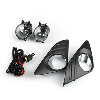 Pair Bumper Fog Lights Lamp w/ Switch+Bulb+Wiring Kit For Toyota Camry 2012 C AU