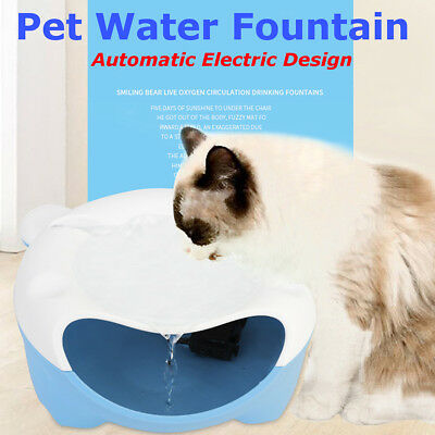 Automatic Electric Pet Water Fountain Dog Cat Drinking Bowl Tank Drinker 220V