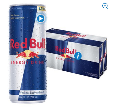 **FREE SHIP** 24 cans / RED BULL ENERGY DRINK - FULL CASE - 8.4oz 24 CANS