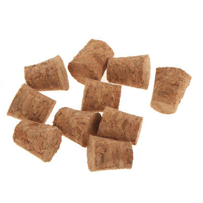 10pcs Cork Tapered Corks Wooden Wine/Beer Bottle Stoppers Bungs 9x7x10mm