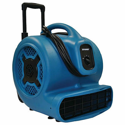 XPOWER X-830H 1-HP 3600 CFM 3-Speed Commercial Air Mover/Carpet Dryer/Floor