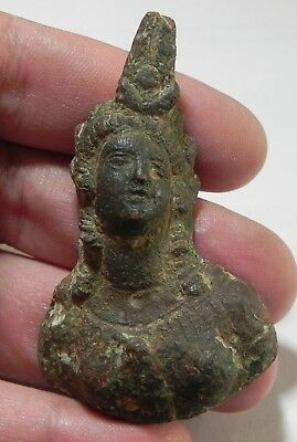 Zurqieh -As4505- Ancient Egypt, Roman Bronze Bust Of Isis , 100 - 200 A.d