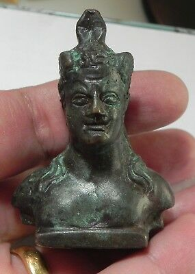 Zurqieh -As4507- Ancient Egypt, Roman Bronze Bust , 100 - 200 A.d