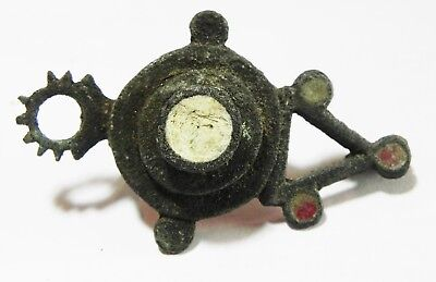 ZURQIEH - aS4512- ANCIENT JORDAN. ROMAN BRONZE BELT BUCKLE. 300 A.D