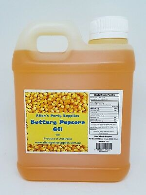 1ltr BOTTLE BUTTERY POPCORN OIL, GREAT FOR HOME USE OR POPCORN MACHINES