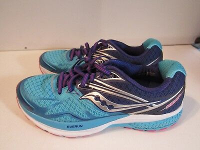 WOMENS SAUCONY EVERUN Ride 9 Blue Running Shoes Size 8M (C187 ... 124f419a32