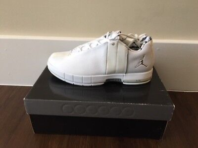974994b462bde2 Jordan Team Elite II Low - White   Metallic Silver - Brand New In Box -