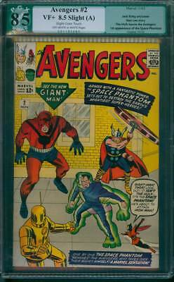 Avengers # 2  The Space Phantom vs the Avengers !  PGX 8.5  scarce book !