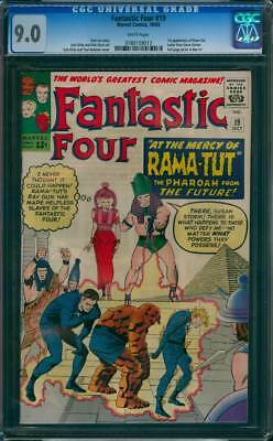 Fantastic Four # 19  At the Mercy of Rama-Tut !  CGC 9.0  scarce book !