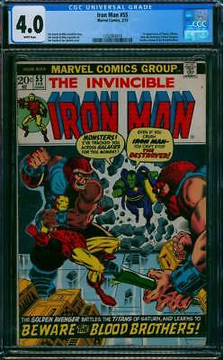 Iron Man # 55  Jim Starlin 1st app. of Thanos !  CGC 4.0  scarce book !