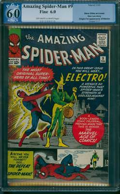 Amazing Spider-Man # 9  1st appearance of Electro !  PGX 6.0  scarce book !