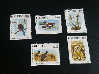 Cape Verde Islands 1981 Sg 512-516 Birds Mnh  (G)