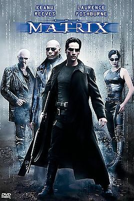 The Matrix (DVD, 1999) Keanu Reeves, Laurence Fishburne Snap Case