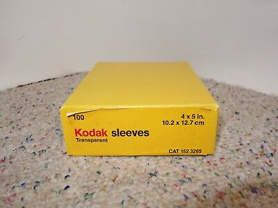 Kodak 4x5 negative transparency film sleeves - OPEN box of 100