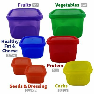 7pc 14pc Healthy Eating Portion Control Pot Containers Set Weight Loss Diet Slim