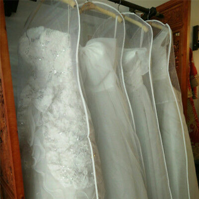 Clear Dust-proof Cloth Cover Suit/Wedding Dress Garment Bag Storage Protector
