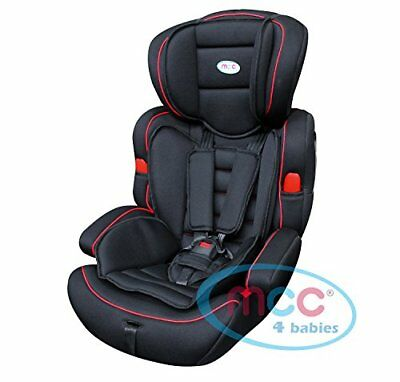 Mcc Black 3in1 Convertible Baby Child Car Safety Booster Seat Group 1/2/3 9-36