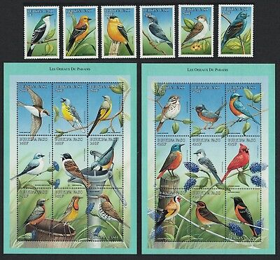 Burkina Faso Birds 6v+ 2 Sheetlets of 9v each SG#1200-MS1207 SC#1098-1105