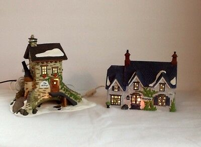 Dept 56 Dickens' Village Series The Maltings 1995 & Brownlow House 1990