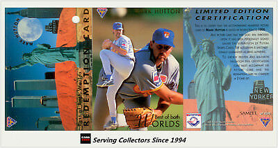 1995 Futera ABL Trading Cards Mark Hutton Best Of Both World Card SAMPLE SET (3)