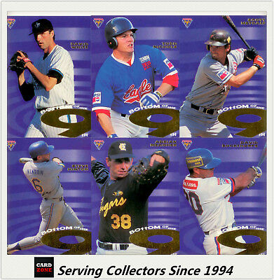 1996 Futera Australia Baseball Card ABL Bottom Of Ninth Subset Full Set (9 Card)