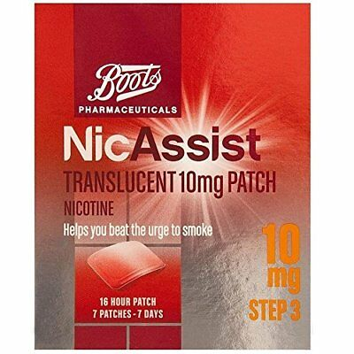 Brand New Sealed Boots NICASSIST 10mg STEP 3 7 PATCHES exp 05/2020 £13 in store