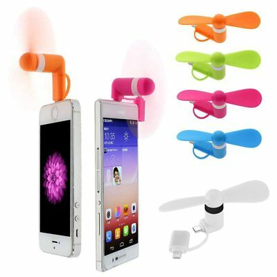 Mini Portable Micro USB Lightning Cooling Fan For iPhone&Android Mobile Phone FR