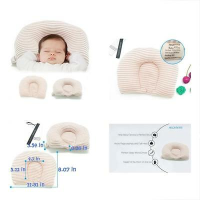 Newborn Baby Pillow Flat Head Infant Shaping Prevent Plagiocephaly Syndrome Safe