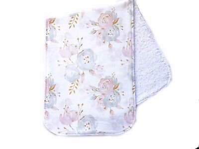Baby Gift Burp cloth -  Watercolour Floral print