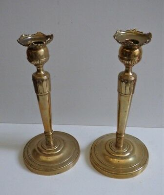 """Rare Georgeous Pair Late 18th Century French Directoire Bronze Candlesticks 11"""""""