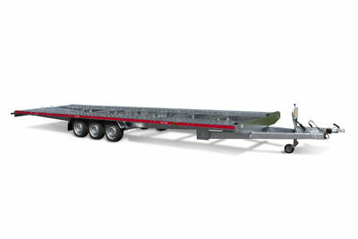 BRAND NEW TWO CARS FLATBED CAR TRANSPORTER TRAILER 26FT x 7FT 3500KG 8m x 2,10m