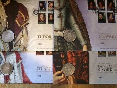 2010/2009 Gb Fdc The Kings & Queens Prestige Medal Collection
