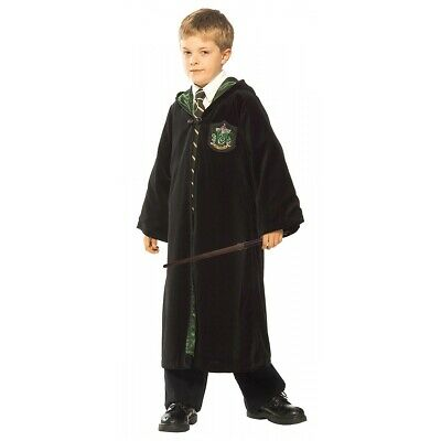 Slytherin Robe Kids Harry Potter Costume Halloween Fancy Dress