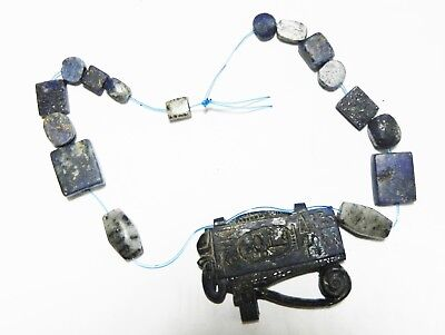Zurqieh -As4546-  Ancient Egypt, New Kingdom Lapis Necklace. 1400 - 1100 B.c