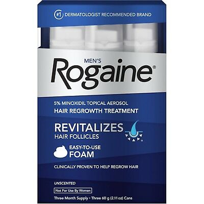 FAST SHIPPING | FROM CANADA: Men's Rogaine 5% Minoxidil Foam Solution - 3 months