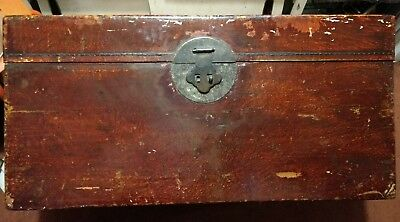 Large Antique Chinese Lacquer Trunk
