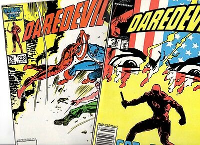 Daredevil 232 233 1St Cameo 1St Full Appearance Nuke Key Newsstand Classic Cover