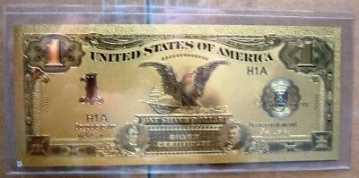 1899 One Dollar Black Eagle Note Gold Plated