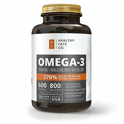 Fish Oil Omega 3 Supplement with EPA & DHA - Pure Healthy Burpless Natural Fatty