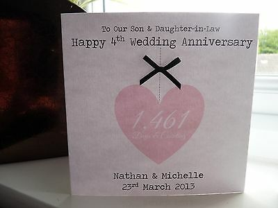 Anniversary cards cotton ~ Personalised 2nd wedding anniversary card with cotton heart