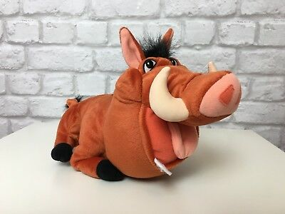 Disney's The Lion King Tootin Pumba Made By Hasbro Rare Collectable Soft Toy
