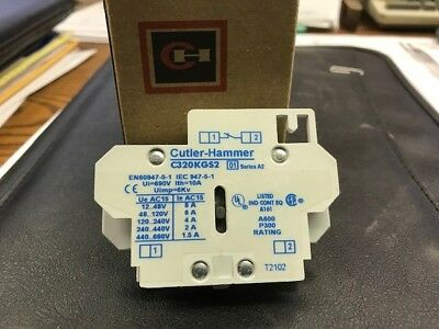 CH Cutler Hammer C320KGS2 Freedom Series Side Mount Auxilary Contact