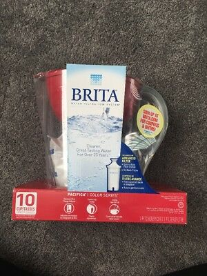 Brita Filter Pitcher Water Stream 10 Cup includes 1 pitcher, and 1 filter NEW