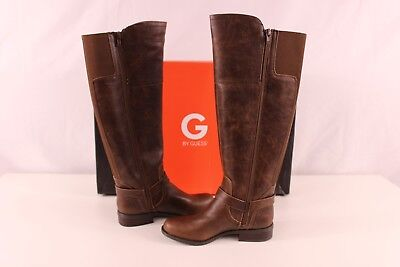 G By Guess Womens Hailee Riding Boots Dark Brown New With Box Tfi